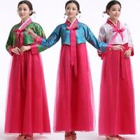 New Korean hanbok women traditional korean Stage costumes ladies hanbok korean dress Chinese Folk dance wear costumes Outfits