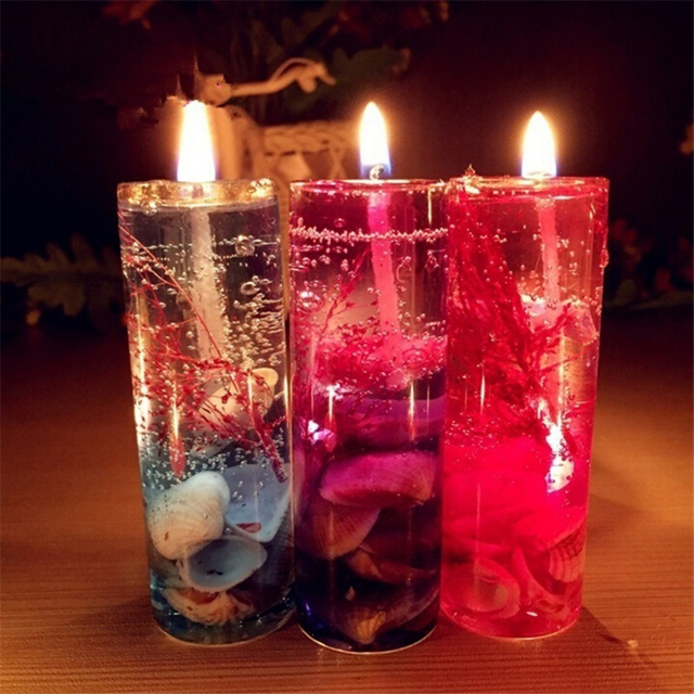 New Art Ocean Jelly Aromatherapy Candles Wedding Valentines Romantic Scented Candle Decoration Random Smokeless Candle  2