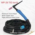 WP26 SR26 TIG сварочный фонарь с воздушным охлаждением (синяя головка) газ и кабель всего 10 метров 33 фут полный Факел Сварщик факел