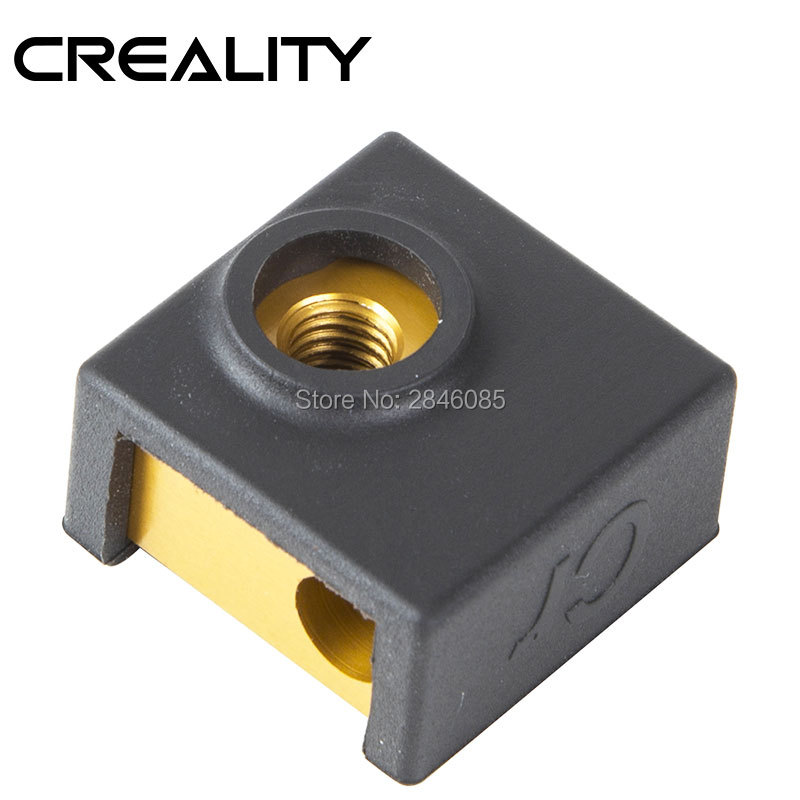 2 x Heater Block Silicone Cover /& 2 x 0.4mm Nozzle For Creality Ender 3 CR-10S