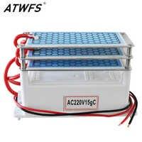 ATWFS 15g purificador de aire generador de Ozono 220 v Ozono limpiador de aire casa Ozonizador ozón Ozonizador hogar desodorización esterilizador