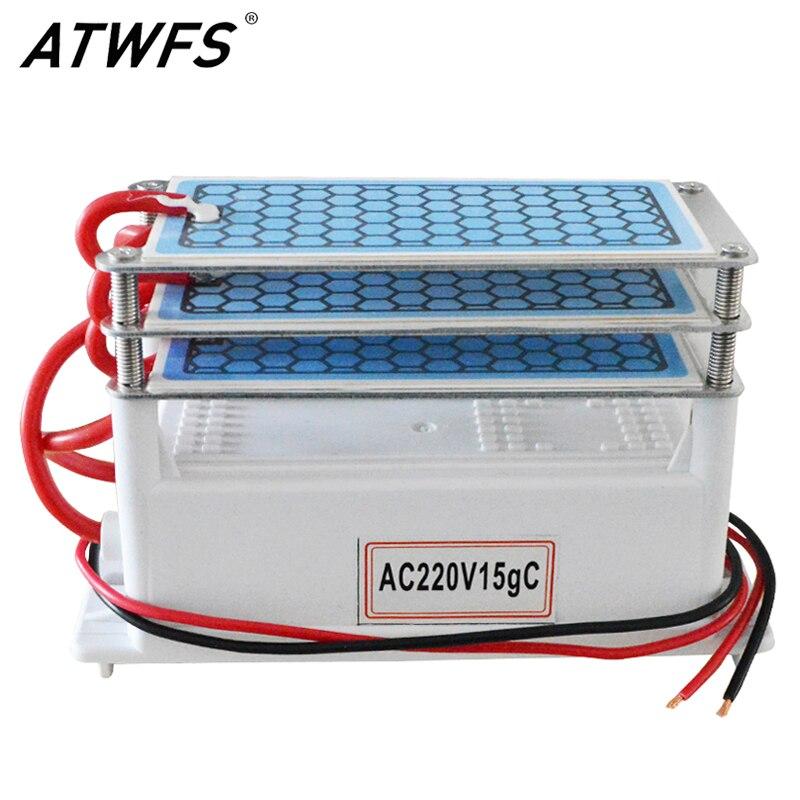 ATWFS 15g purificateur d'air générateur d'ozone 220 v Ozono purificateur d'air maison Ozonizador Ozon ozoniseur maison désodorisation stériliser