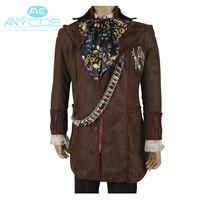 Костюм для косплея «Алиса в стране чудес», куртка с принтом «Mad Hatter», штаны, галстук, 6 шт., Униформа, куртка, штаны, костюм для косплея на Хэлло