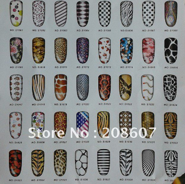 New Arrivals Product 3D Nail Sticker Nail Art Nail Foils Sticker 42Styles Nail Decal Full Tip Patch Metal Sticker Freeshipping