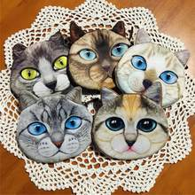 12 Pcs/lot Novelty 3D Animal Coin Bag for Kids Zipper Plush Coin Purse Blue Eye Cat Storage Pouch Women Wallet(China)