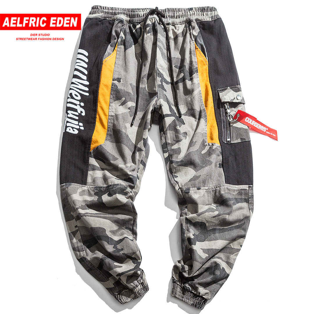 Aelfric Eden Camouflage Mens Cargo Pants 2018 Full Length Trousers Hip Hop Military Joggers Pockets Casual Male Streetwear Ur62 Good For Antipyretic And Throat Soother