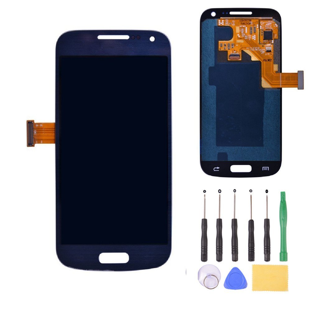 ФОТО 100% Guarantee LCD Display Touch Screen Digitizer Assembly for Samsung Galaxy S4 Mini i9190 i9195 i9192 Blue
