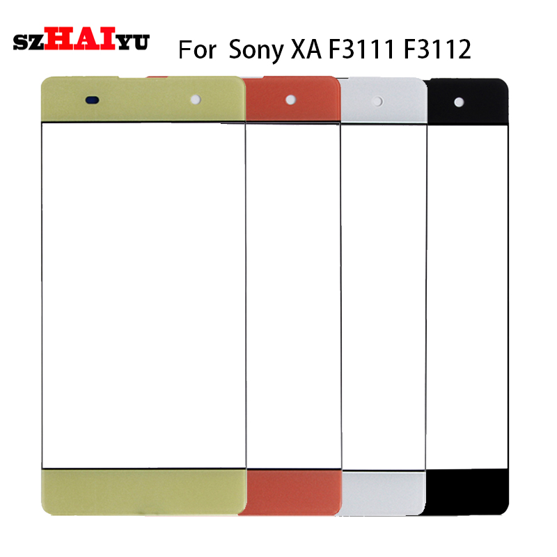SZHAIYU A+ Top Replacement LCD Outer Lens Glass Front Screen Panel For Sony Xperia XA Dual F3111 3112 3113 3115 3115 Front Glass