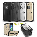 Luxo 3in1 híbrido armadura capa protetora para iphone 6 6 s plus se 5S Sam S7 S6 BORDA Suporte Suporte À Prova de Choque Casos de Telefone navio Livre