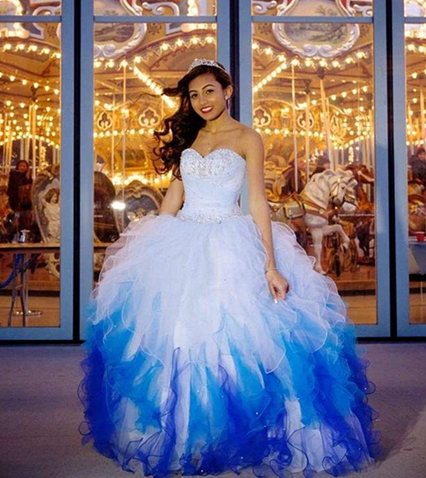 Modern western puffy dresses for sweet 16 sixteen princess for Modern western wedding dresses