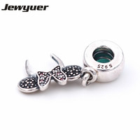 New Mouse Headband Charms 925 Sterling Silver Charm Fit Beads Bracelet Necklace Pendant DIY Sterling Silver
