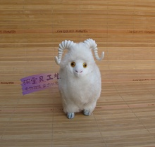 mini simulation white sheep toy polyethylene & furs small cute sheep doll gift about 12x6x12cm