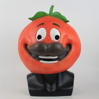 Game Fortress Night Mask Big Runaway Tomato Head Crown Mask Halloween Ball Mask Head Collection Cosplay For Men And Women