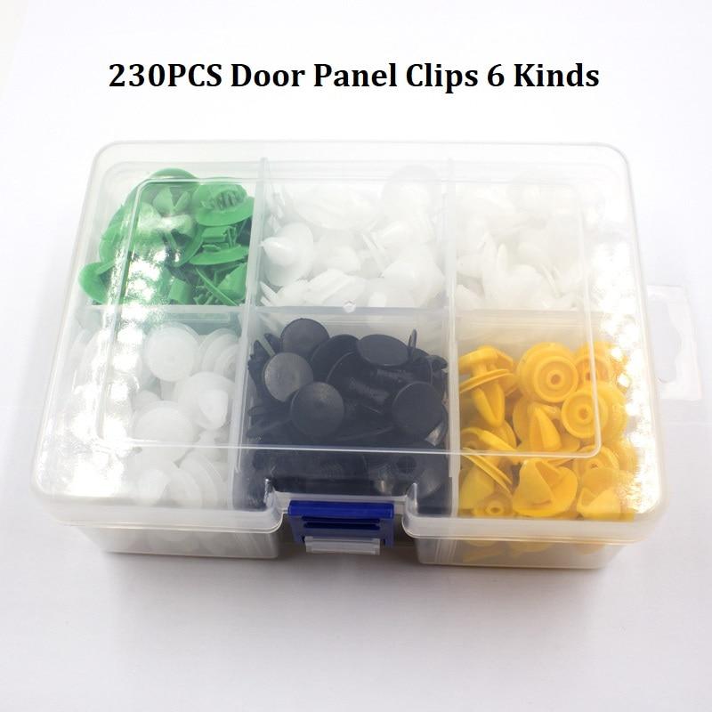 360 шт Универсальный смешанный автомобильный бампер крыло винт пластиковый крепеж зажим с коробкой набор для всех авто заклепок - Название цвета: K6-230Pcs
