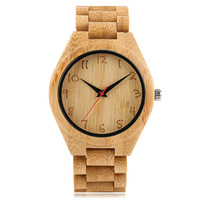 Classic Fashionable Bamboo Quartz Watch Fold Buckle Bamboo Strap Bracelet Trendy Men S Watch Wood 3