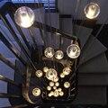 14 14.7 Sete Chuveiro Luz Meteoro Bola Bolha De Vidro Candelabro de Suspensão Lâmpada Escada Luminária para Sala De Jantar