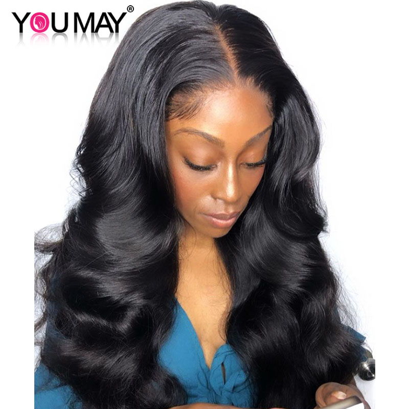 13x6 Lace Front Wigs Pre Plucked 150 Denstiy Brazilian Body Wave Transparent Lace Front Human Hair
