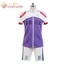 Yowamushi Pedal Kyoto Fushimi members Bicycle Race Suit Cosplay Costume Shirts Pants New