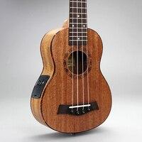 Горячая продажа Высокое качество 21 дюймовый Электрический пикап эквалайзер включен США 4 струны Guita укулеле