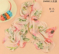 10pcs/pack Peacesky Free Shipping 2015 New Hot Sales Beach Shawls Chiffon Scarf Women's Fashion Blue and white Silk Brand Scarfs