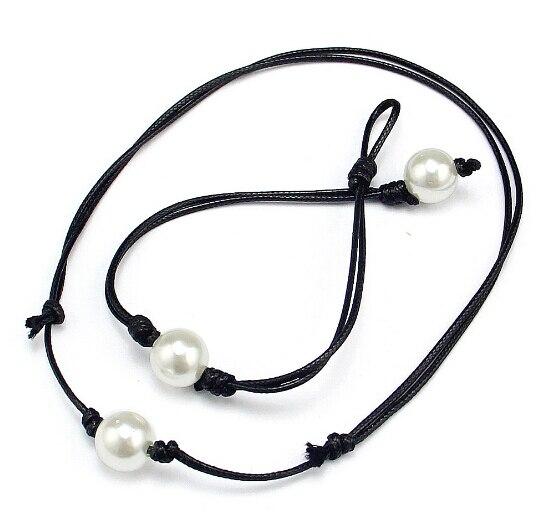 Pearl Jewelry Set Black...