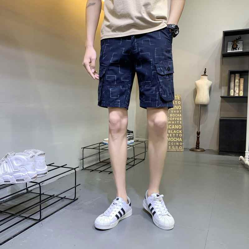 New Mens Military Cargo Shorts pants Summer Outdoors Sports Printed Short Pants Male Loose Multi-Pocket Shorts Casual Trousers