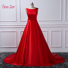 Taoo Zor 2017 Luxury Satin Wedding Dresses Ivory Red Bow with Belt Cathedral Train Robe De Mariage Real Photos Bridal Gowns