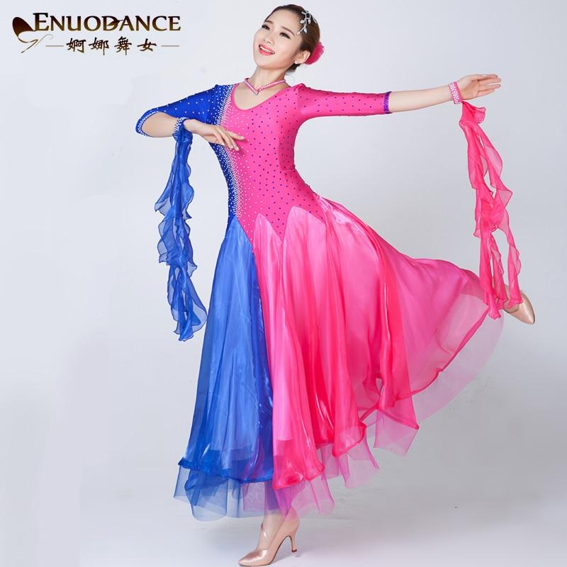 Modern ballroom dance Rhinestone dress Waltz Tango Ballroom Dance Costume