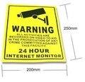 10 шт. ВИДЕОНАБЛЮДЕНИЯ клей Предупреждение Бумажная Наклейка Предупреждение Этикетки Знак waterprrof непромокаемые для Видеонаблюдения 200*250 мм