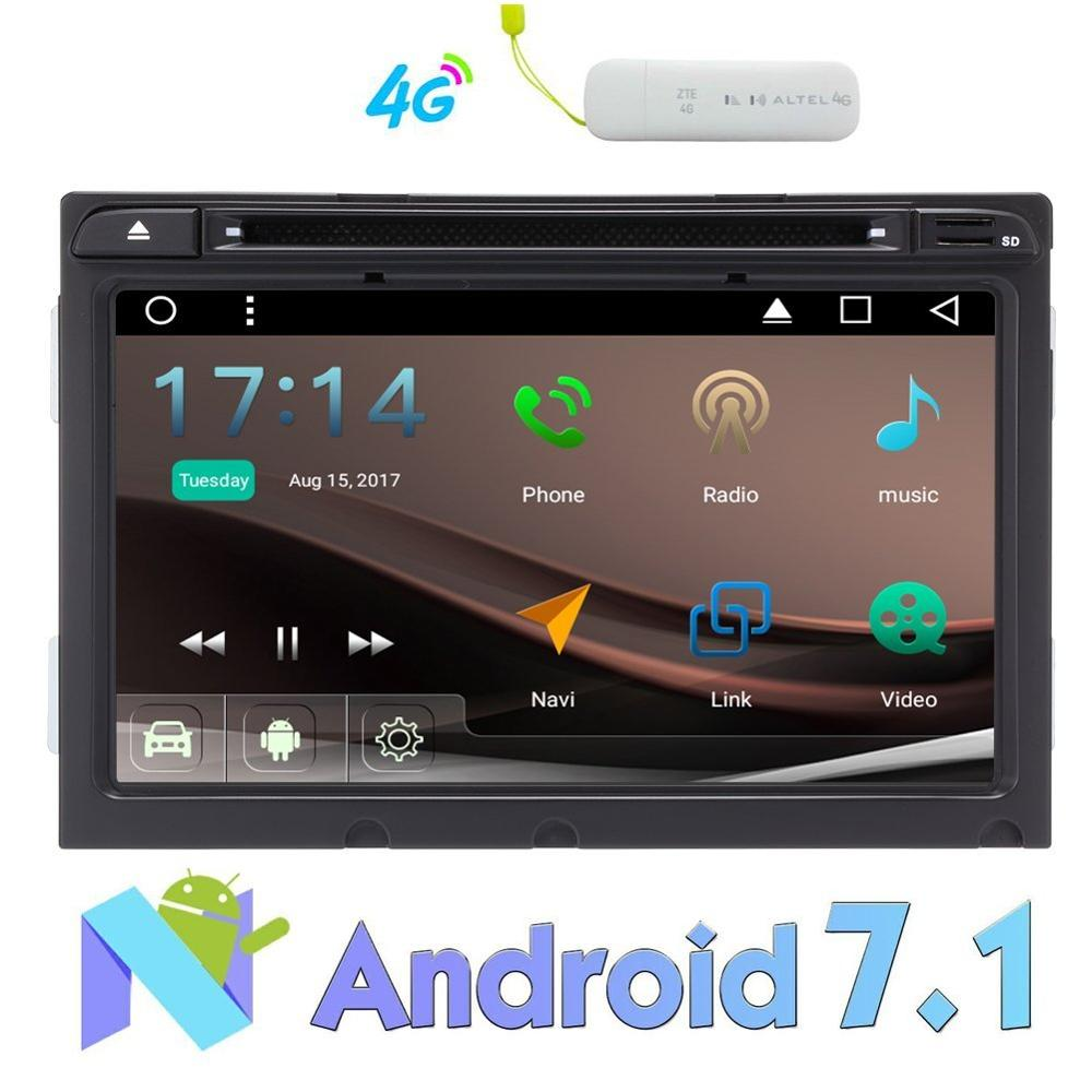 4G Dongle+4 Core Android 7.1 Stereo for Hyundai Elantra 2016 8 DVD Player Radio Bluetooth GPS/FM AM RDS Radio/WIFI 3G/USB/SD