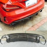 Углеродного волокна Назад диффузор сзади губа спойлер Splitter для Mercedes Benz W117 CLA Тюнинг машины