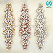 154d3e5abcc (1 PC) bruiloft strass applicaties rose goud zilver bridal kralen crystal  applique patch ijzer