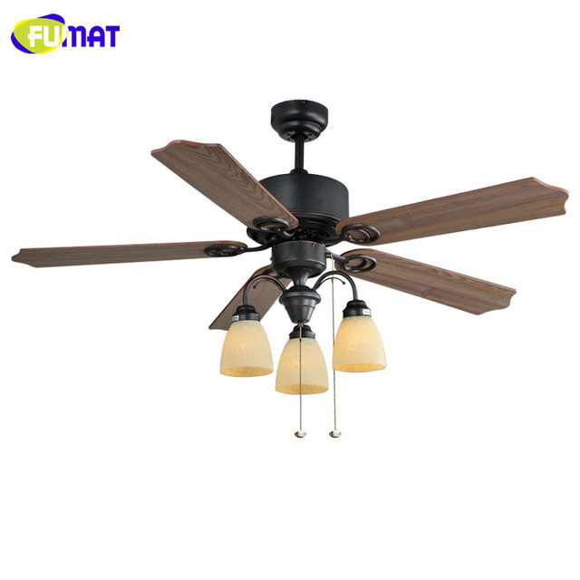 FUMAT Ceiling Fans Lamp European Style Ceiling Fans Light LED Vintage Decorative Fans Hotel Restaurant Living Room Ceiling Fans