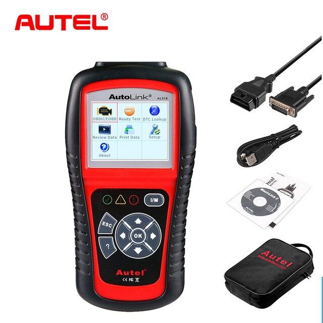 Big Sale Autel AL519 Diagnostic Tool  AutoLink AL519 OBD ll Scan Tool with Mode 6 Fault Code Reader EOBD Diagnostic Tool Scanner