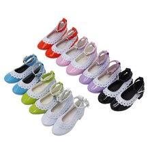 1pair Lace Princess heels shoes for 60cm BJD dolls, shoes fo