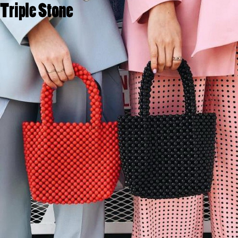 Women Beaded Bags Vintage Retro Design Small Tote Shoulder Bag Girls Handmade Beach Handbags Brand Design Small Purse Clutches цена 2017