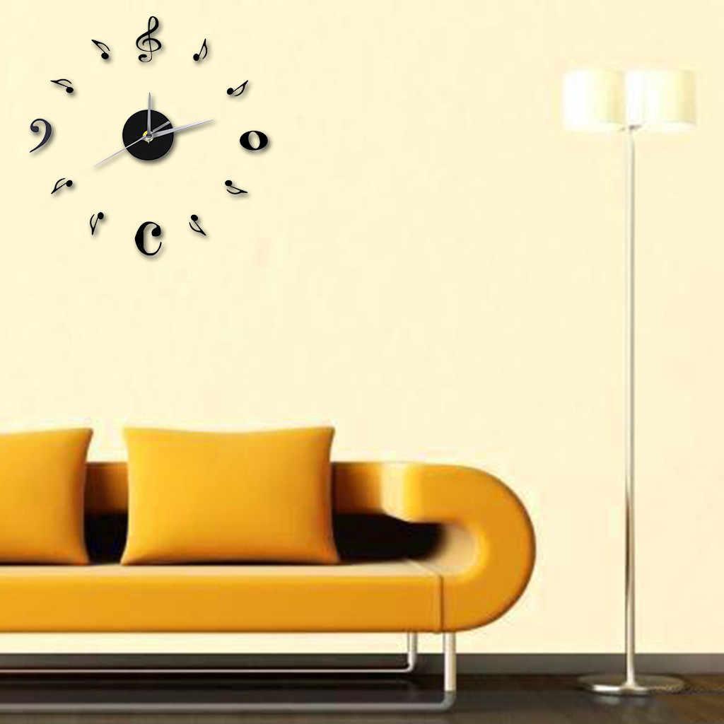 Akrylowe nowoczesne zegar ścienny diy 3D naklejane lustra na powierzchnie dekoracje do domowego biura
