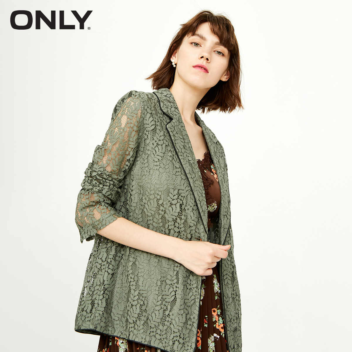 ONLY Women's Back Vent Pearl Buttons Edged Blazer   118308502