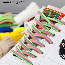 New Round Shoelaces Rainbow Solid Classic Martin Boot Shoelace Casual Sports Boots shoes Lace Sneaker Shoe Laces Strings 14color