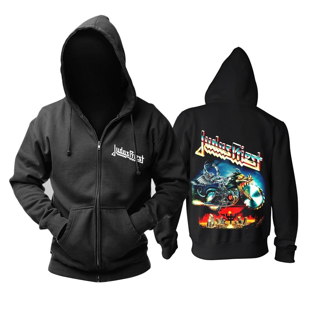 12 видов крутых клинок Judas Priest Rock черная толстовка с капюшоном в виде ракушки куртка Панк Череп Демон металлический свитшот на молнии Sudadera 3d принт - Цвет: 11
