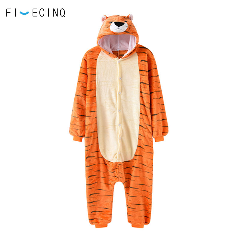 Baby Soft Tiger Breathable Romper Flannel One Piece Pajamas Outfit Costume