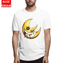 100% Cotton T shirt Soul Eater Moon T-shirt For Male Quality T-Shirt Organic S-6XL Plus Size Homme Shirt New Arrival