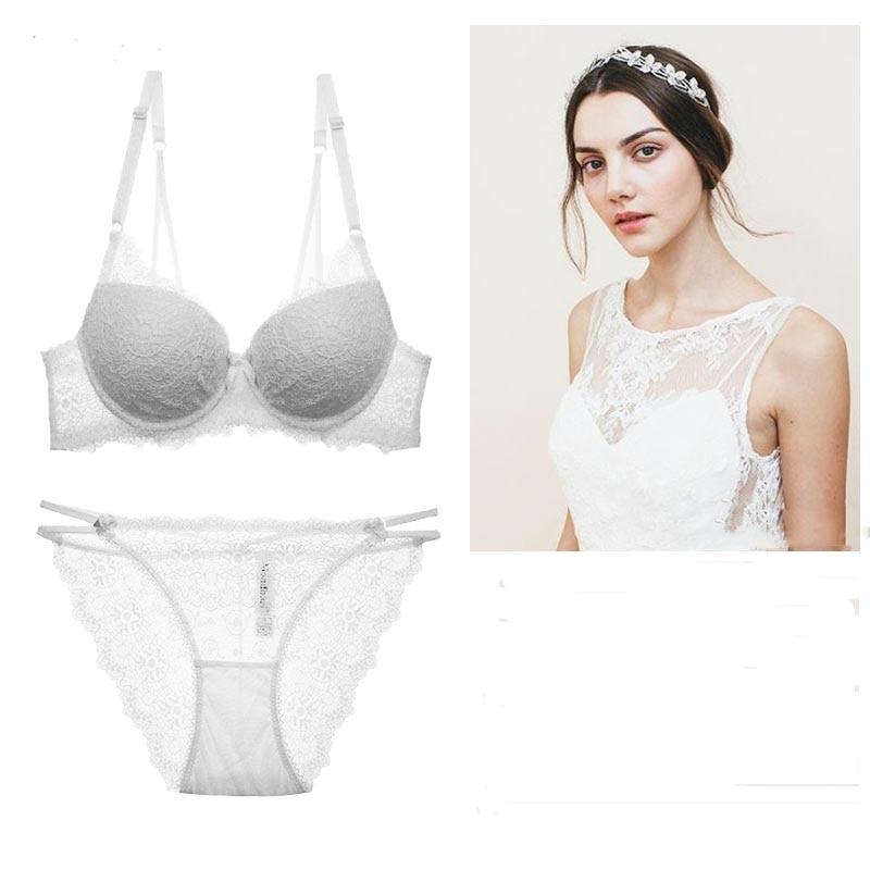 HOT 2017 Fashion Sexy charming lace bra gather together Shape Wear women bra set Comfortable Underwear women bras lace bra set