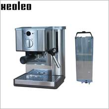 Xeoleo 1.2l cafetera espresso cafetera máquina de café espresso máquina de café de acero inoxidable 15 bar automático 1.1kw