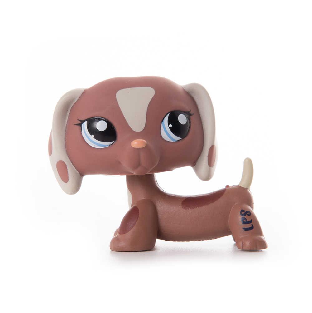 Lps perro mascota tienda de juguete Lps vieja colección gato juguetes Pelo Corto acción de pie figura Cosplay juguetes niños regalo