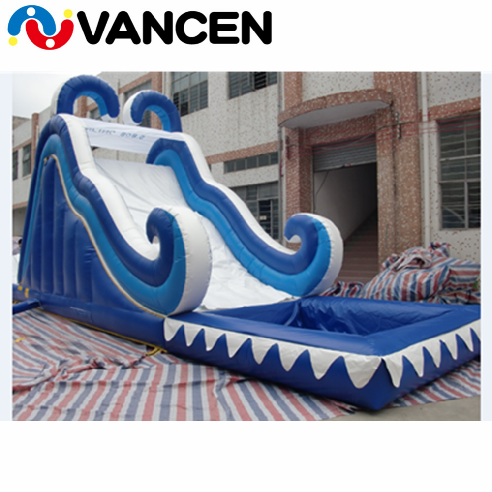 Giant inflatable castle slide blue bouncy slide for jumping sport game commercial high quality inflatable slide for rental