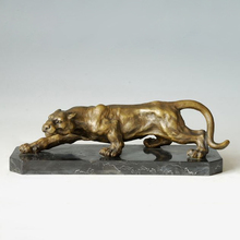 ATLIE Bronzes  Sculptures Creeping Cheetah Bronze Statue leopard Animal Statues Home Decoration