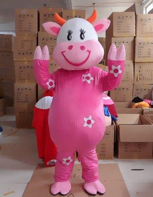 Costumes de Cosplay personnage de dessin animé adulte mignon belle vache mascotte déguisement déguisement de fête d'halloween