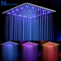 16 Inch Rain Led Shower Head.Stainless Steel Water Powered 40CM * 40CM Led Showerhead Rain Shower Head