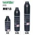 PCP Paintball Airforce Airsoft HPA cilindro M18x1.5 0.2L/0.35L/0.45L botella de aire 6061 tanque de aleación de aluminio 30MPa/ 300bar/4500psi